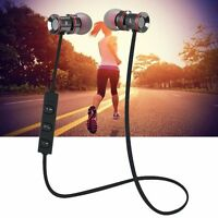 Bluetooth V4.0 Sports Headset Earphones For Samsung Galaxy S8+iphone 7 Plus Us