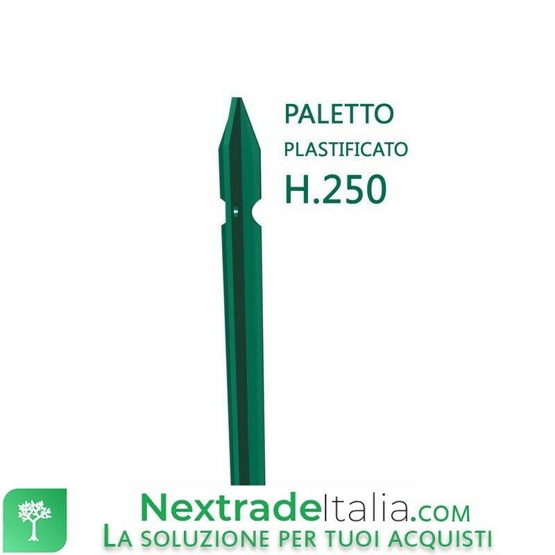 10PZ PALETTO PLASTIFICATO PER RECINZIONI SEZIONE A T 30X30X3 H 250 CM verde