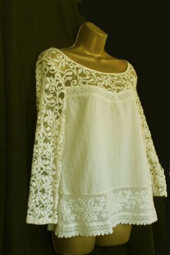 New M*S M*rks and Spencer lace cream beige top 8 10 12 14 16 18 20