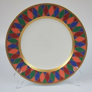 Faberge-China-Karsavina-Dinner-Plate-Damaged-Trim
