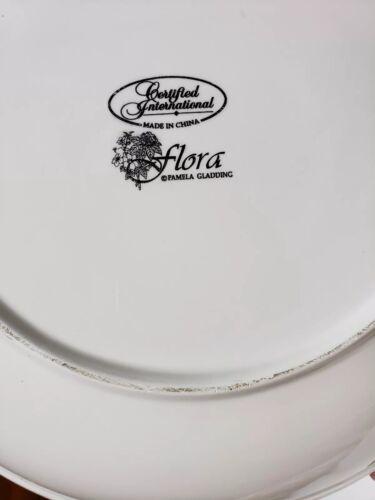 "CERTIFIED INTERNATIONAL FLORA 13 1//4/"" Large Pasta Serving Bowl Pamela Gladding"