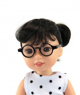 "Fits American Girl /& 18/"" Dolls Round Tortoise Shell Glasses Clear Lenses"