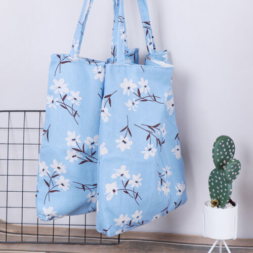 1x Orchid pattern linen bag tote ECO shopping outdoor canvas shoulder bags
