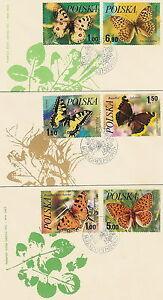 Poland FDC (Mi. 2516-21) Butterflies #3 - Bystra Slaska, Polska - Poland FDC (Mi. 2516-21) Butterflies #3 - Bystra Slaska, Polska