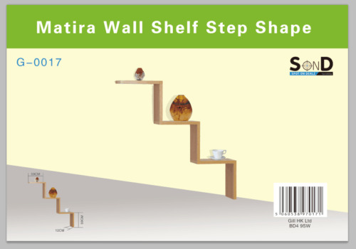 1 of 1 - Floating Wall mount Steps/W Shape shelves CD/DVD/Bookcase Rack Various Colours