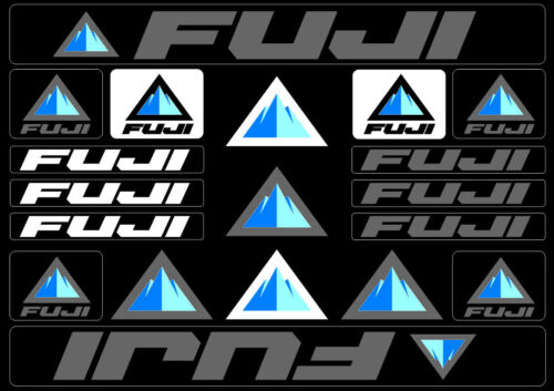 Fuji Bicycle Bike Frame Decals Stickers Adhesive Graphic Set Vinyl Gray
