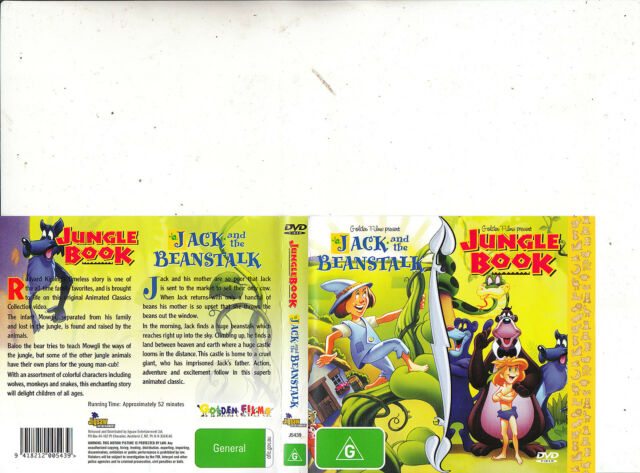 Golden Films Presents-Jack And The Beanstalk/Jungle Book-Animated GF-DVD
