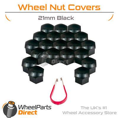 Chrome Wheel Bolt Nut Covers GEN2 21mm For Ford Transit 13-17 Mk8