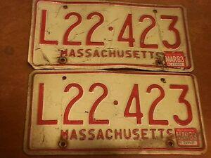 Image is loading Set-of-2-Antique-Vintage-Car-Massachusetts-MA- & Set of 2 Antique Vintage Car Massachusetts MA MASS License Plates ...