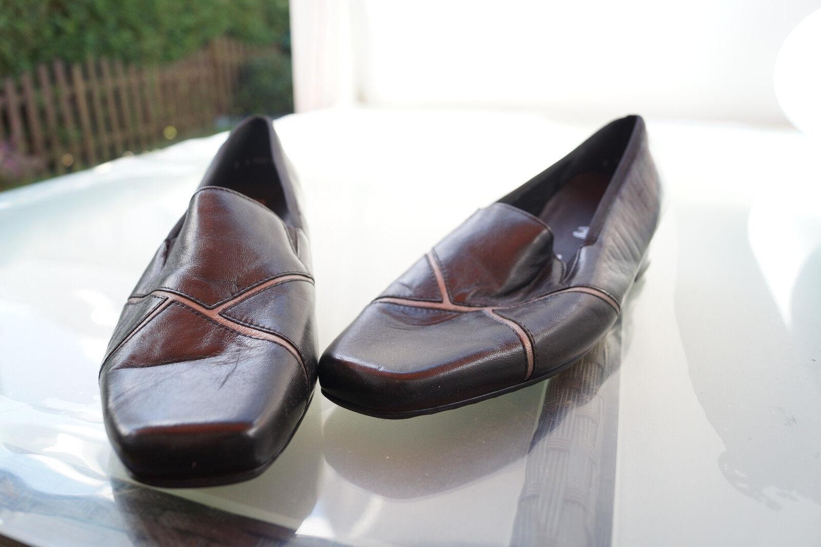 schicke ARA Damen Comfort Einlagen Schuhe Pumps Leder m. Einlagen Comfort Gr.6 H 39,5 schwarz NEU b3fd9a