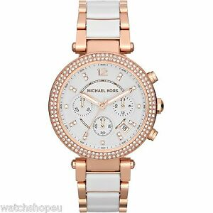 NEW-MICHAEL-KORS-MK5774-LADIES-ROSE-GOLD-PARKER-WATCH-2-YEARS-WARRANTY