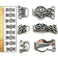 1 1/4 Bali Style Antiqued Sterling Silver Filigree Multi-strand Clasps 8pc
