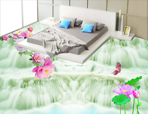 3D Great Falls Flowers 744 Floor WallPaper Murals Wall Print Decal 5D AU Lemon
