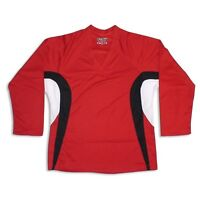 Red Hockey Jersey With Name & Number Dry Fit Edge Inspired Dj200