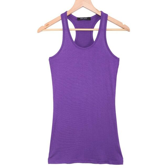 Women Tank Top Singlet Vest Racerback Yoga Sports Exercise Cami A-Shirt ON SALE