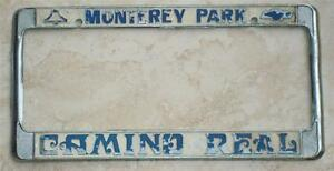 Camino Real Chevrolet Monterey Park Ca License Plate