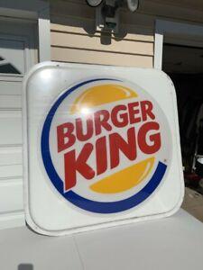 "Huge Burger King ""RARE Bun Sign"" The Original 47""x46"" Great shape! PICK UP ONLY"
