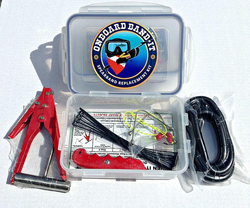 Speargun band repair kit(w  5 8in Rubber)