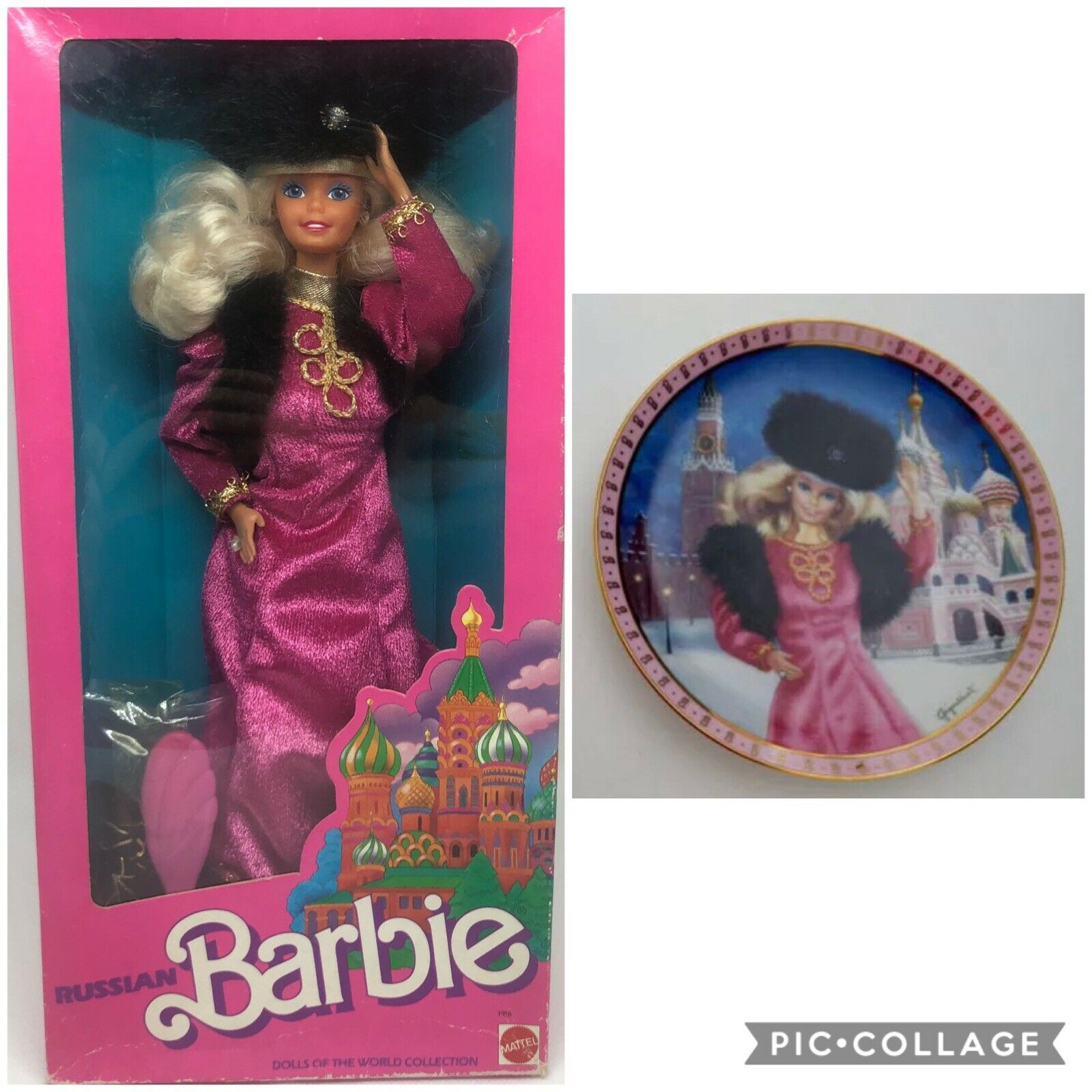 Barbie RUSSIAN  + Porcelain plate 1984
