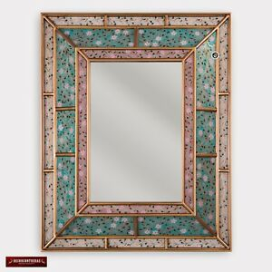 Peruvian Wall Accent Mirror Turquoise Mirror Wall Decor Large Vanity Mirrors Ebay