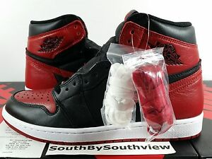 Nike Air Jordan 1 Bred Banned 2016 Black Red I Retro With Receipt 555088-001 DS