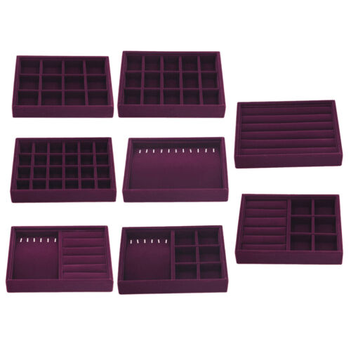 Stackable Jewelry Tray Drawer Insert Display Showcase for Earrings Necklace