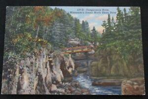 Linen Postcard Temperance River Minnesota Scenic North Shore Drive Vintage