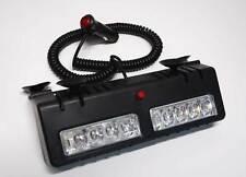 Blue White LED visor Strobe Light Bar Hazard Emergency Warning  Deck Dash Car