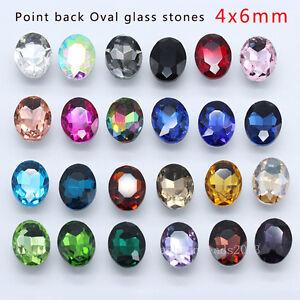 30 faceted pointed back teardrop//navette foiled crystal rhinestones Jewels Y-pk
