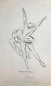 Lucienne-Pageot-Rousseaux-Drawing-Original-Ink-Serge-Lifar-7