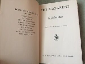 The Nazarene by Sholem Asch and Maurice Samuel (1939, Hardback) 15th Impression