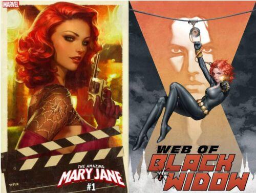 Amazing Mary Jane #1 Artgerm /& Web Of Black Widow #1 Discount Bundle 10//23//19