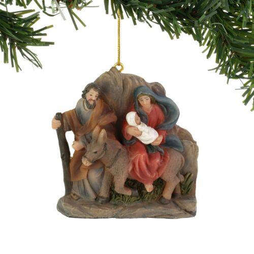 "Holy Family Donkey Jesus Flight To Egypt Ornament Christmas Resin 3/"" by Enesco"