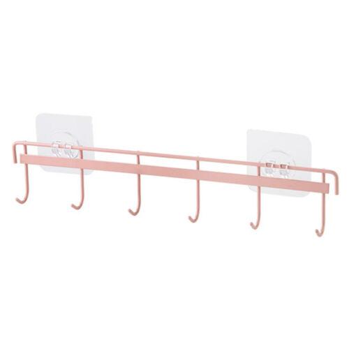 UK 1//2//3 PACK Metal Hook Self-Adhesive Kitchen Pan Clothes Hanger Storage Rack L