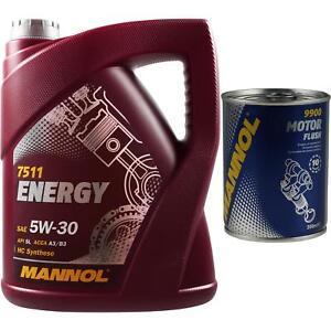 5l-MANNOL-aceite-del-motor-Energy-5w-30-API-sl-motorspulung-motor-Flush-limpiador