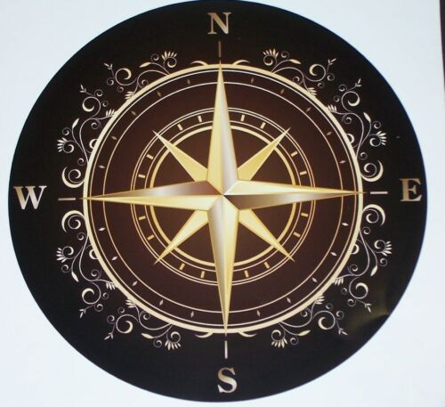 Rose Compass RV motorhome Wall Window Graphic Decal decals Mural Graphics