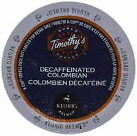 Timothy's Colombian Decaf Coffee Keurig K-cups, 24 Count, New, Free Shipping on sale