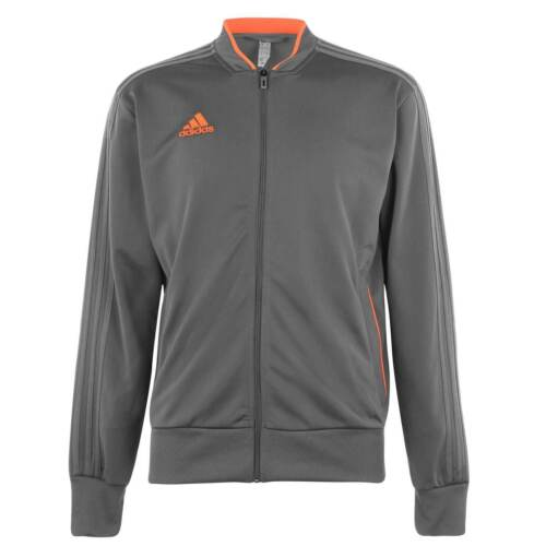 adidas Mens Tracksuit Top Long Sleeve Crew Neck Breathable Zip Regular Fit