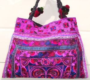 Thai-Hmong-Embroidered-Ethnic-Large-Tote-bag