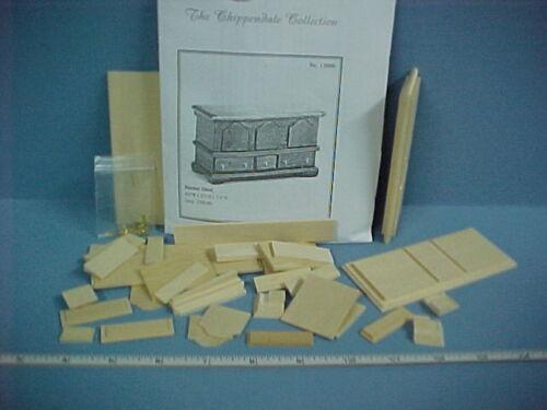 Circa 1750-80  #13006 Dollhouse Miniature Chippendale Blanket Chest Kit