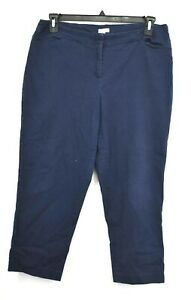 J-Jill-Womens-Navy-Blue-Cotton-Stretch-Hook-Front-Zip-Fly-Pants-Straight-Leg-14