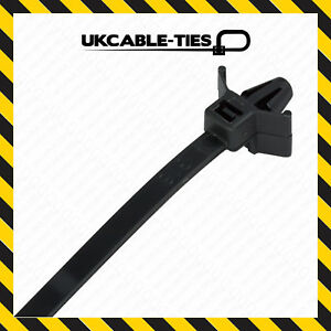 100x-All-Sizes-Push-Mount-Winged-Cable-Ties-Car-Chassis-Nylon-Zip-Tie-Fixing