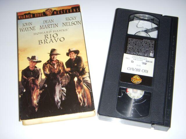 Rio Bravo VHS John Wayne, Dean Martin, Ricky Nelson, Angie Dickenson 1959 Tested