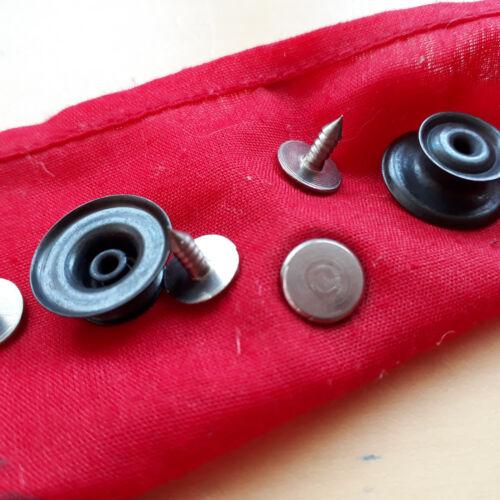 2 Pantalons métal-Brevet boutons Vestes Boutons Brut Couleur Noir Cuivre кнопки