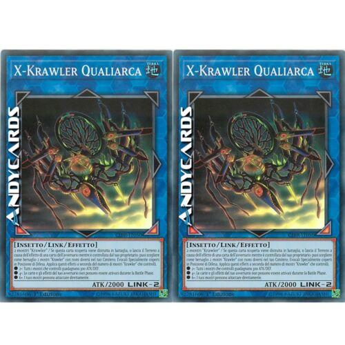 2x X-Krawler Qualiarca ☻ Super R ☻ CIBR IT050 ☻ YUGIOH ☻ ANDYCARDS
