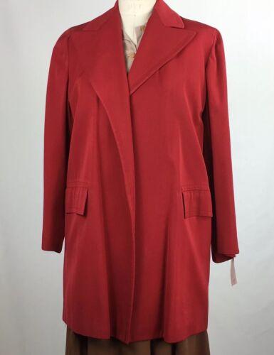 1940s red gaberdine open front shoulder pads pocke