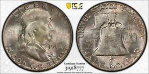 1954p-Franklin-half-dollar-PCGS-MS65FBL-034-Bugs-Bunny-034-FS-401