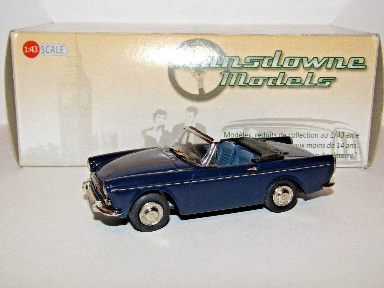 LANSDOWNE MODELS 1966 SUNBEAM TIGER bleu nuit 1 43 LDM94