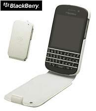 GENUINE Blackberry Q10 Leather Flip Shell Case Cover ACC-50707-202 | White