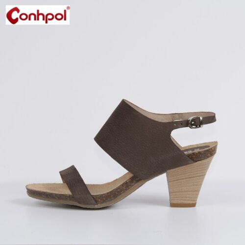 Sandals 36 Women Conhpol Nuovo 37 Pumps Leather Shoes 38 40 New Brown tTfq8